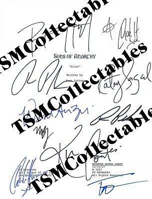 SONS OF ANARCHY autographed signed FULL CAST PILOT SCRIPT! MUST SEE! SOA