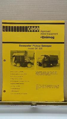 Vintage Factory Case Unimog Sweepster Pickup Sweeper SK-300 Attachment Brochure