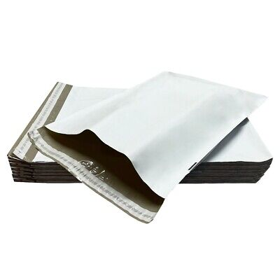 "250 Poly Mailers Bags 14.5x19"" - #6 Pouches Envelopes White Self-Sealing"