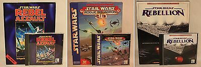 Star Wars-Rebel Assault-Rogue Squadron-Rebellion-PC-Vollversion-neuwertig-selten