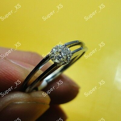 wholesale jewelry lots 10pcs 100% pure zircon stainless steel ring free shipping
