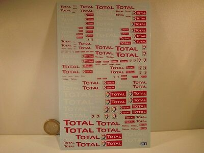 Decals 1/43 - 1/32 - 1/24 - 1/18  New Total -  T215