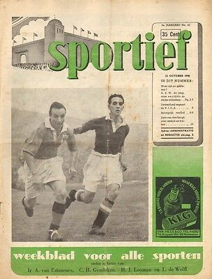 SPORTIEF 1948 nr. 43 - BALUW WIT/RICHARD DEPOORTER/CLEVELAND INDIANS-RED SOX