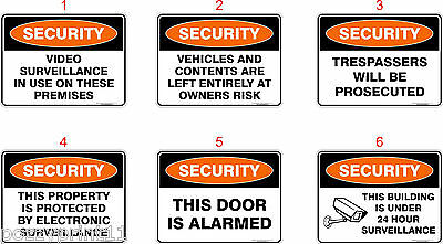 Security Australian Health & Safety Signs OHS Standard Signs Work Place Signs