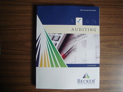 2012 BECKER CPA Review Audit AUD Textbook - New, Unmarked.