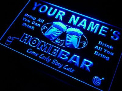Name Personalized Custom Home Bar Beer Neon Light Sign