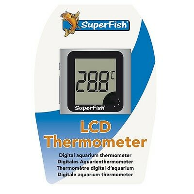 Superfish Digital LCD Thermometer For Tropical Fish Marine Discus Tank Aquarium