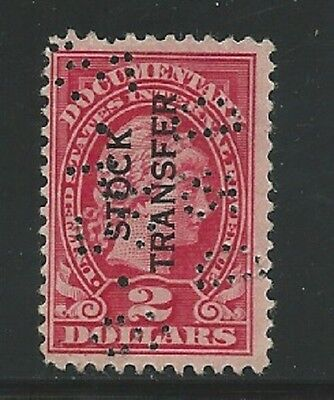 US Stock Transfer Stamps- Scott # RD13/R21-$2-Mint/LH-1918-29-Perfin