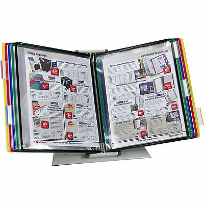 "Tarifold D291 10-Pocket Desktop Reference Rack, Holds 20 8.5 x 11"" Sheets"