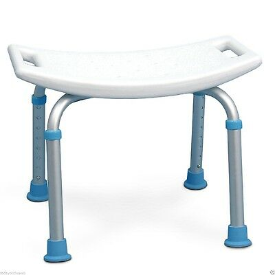 New AquaSense Adjustable Bath and Shower Chair with Non Slip White Seat