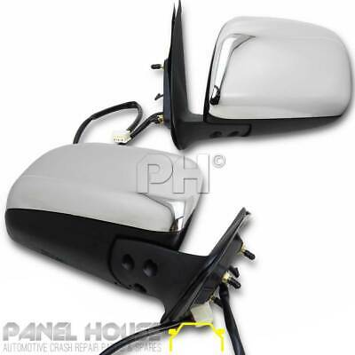 NEW Toyota Hilux Chrome Mirror Electric PAIR '05-'11 Door Power Mirrors RHS LHS
