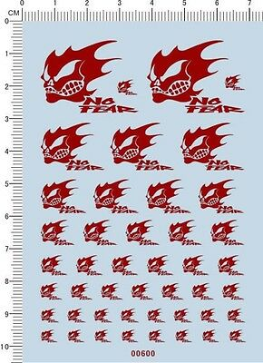 decals Bones skull for different scales(red) 00600