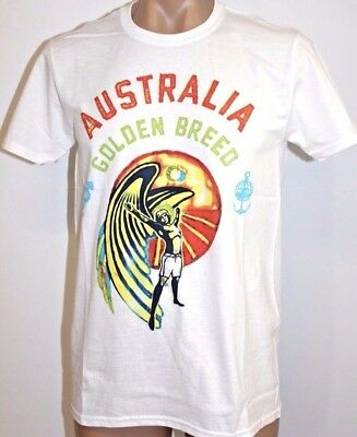 Men's Golden Breed Surf Australia Tee T-Shirt. Size S -  XL. NWT, RRP $29.95.