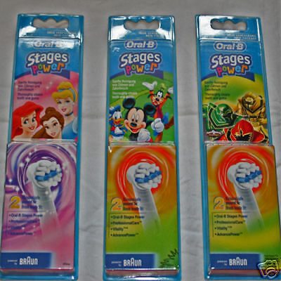 Braun Oral-B Kids Power Toothbrush Refill Heads NEW