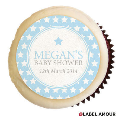 PERSONALISED Baby Shower Christening Party Cupcake Edible Toppers - Kaitlyn