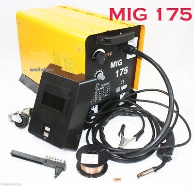 MIG 175 Flux Wire WELDING MACHINE 110V 160AMP NO GAS WELDER Auto Feeding Torch