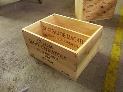 French Crested Wine Box Organiser With Partition Office Paper Magazine Holder