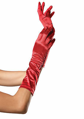 Sexy Leg Avenue Red Elbow Length Satin Evening Costume Gloves