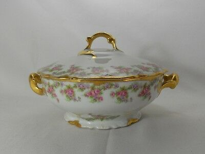 Limoges/Bawo and Dotter/Elite Works Bridal Wreath Covered Round Vegetable Bowl