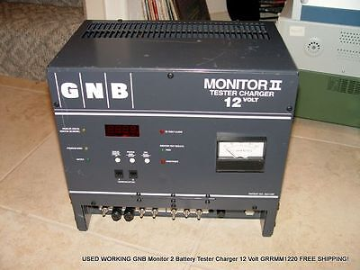 USED GNB Monitor 2 Battery Tester Charger 12 Volt GRRMM1220 FREE SHIPPING!