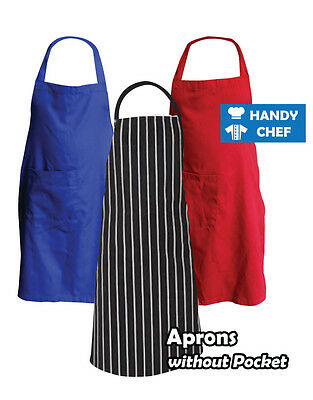 Chef Bib Aprons No pocket 5 Pack-See Handychef store for chef Jackets,Chef Pants