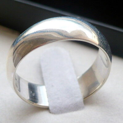 7mm 925 STERLING SILVER MEN'S WEDDING BAND RING SIZES 5-13 FREE ENGRAVING
