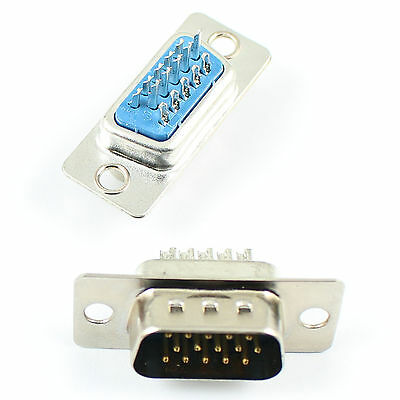 2Pcs D-SUB 62 Pin Male Solder Type Adapter Connector 3 Rows DB62M