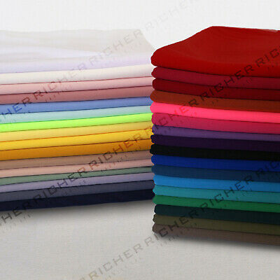 100% Polyester Interlock Stretch Jersey Lining Fabric Material 150cm Wide
