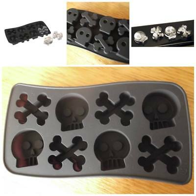 Pirate Skull & Crossbone Silicone Cake Ice Muffin Mold Mould Tray Party Novelty