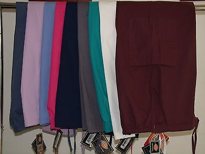 Dickies Scrub Pants M Xl 2Xl Petite Tall Navy Ceil Orchid Pink White Pewter