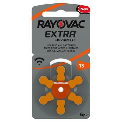 Rayovac Extra Mercury Free Hearing Aid Batteries x60 Size 13