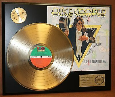 ALICE COOPER GOLD LP LTD EDITION RECORD & CLOCK DISPLAY QUALITY RARE COLLECTIBLE