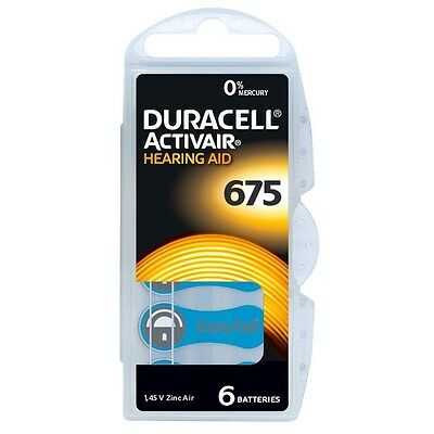 Duracell Activair Mercury Free Hearing Aid Batteries x60 Size 675