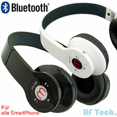 Universal Bluetooth Headset Stereo Kopfhöre Kabellos MP3 SmartPhone Handy Laptop