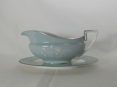 Royal Worcester Bridal Rose Z2738 Gravy Boat with Underplate