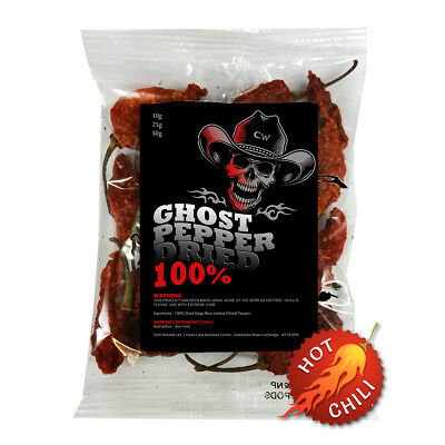 Chilli Pods - 10g Dried Chilli  Naga Jolokia Pods - Ghost Pepper *SALE*
