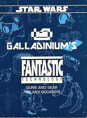 Star Wars-Galladiniums-FANTASTIC TECHNOLGY-Roleplaying Game-Supplement-RPG-rare