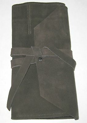 Tool Roll 7 Slot Suede Leather Bonsai Or Other Tools Good for All Crafts