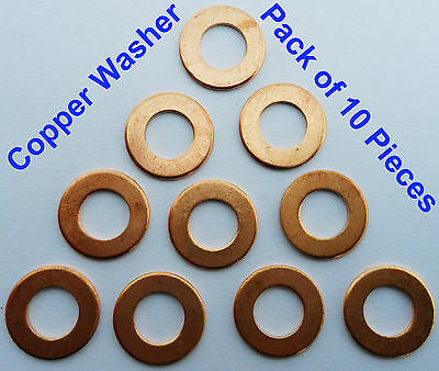 "1/4"",3/8,7/8,1/2,3/4,1"",2"" BSP Solid sump plug crush sealing copper washer Banjo"