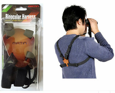 Matin BINOCULAR HARNESS Strap Canon Nikon Camera Range finder Belt Leather