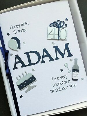 40th BIRTHDAY CARD For MEN PERSONALISED Son Husband Boyfriend Brother Gift Boxed