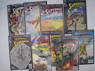 Superman : Funeral For A Friend. Complete 9 Part Series. All Fn-Vfn.  Dc.1993