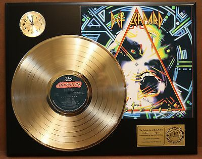 Def Leppard Gold Lp Ltd Record & Clock Display Quality Collectible Free Shipping