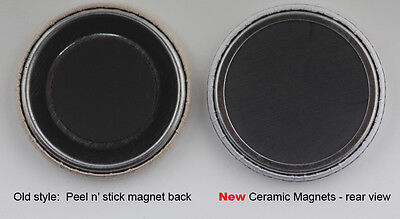 """1000 or 500 1-1/4"""" Ceramic Magnet Button parts for 1.25"""" Pin Maker,Badge Machine"""