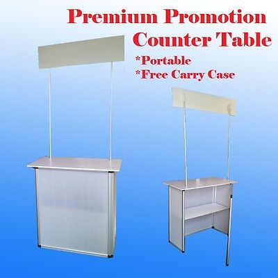 Promotion Counter Table Kiosk Aluminum Frame  Display Supermarket Demo Display