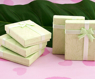 10X Green Jewelry Necklace Bracelet Watch Gift Party Case Box with Bow Ribbon