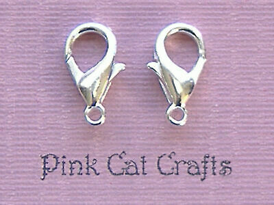 25 x LOBSTER CLASPS 12mm Silver Plated FINDINGS
