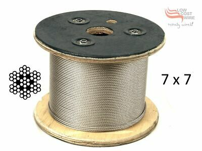 Balustrading Wire 316 Marine Grade Stainless Steel 3.2mm 7X7 per 100metres roll