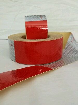 "25 Foot ( 6""red X 6"" White )  -DOT-C2 Reflective Conspicuity Tape Safety"