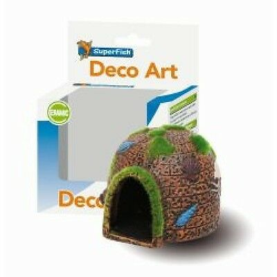 Superfish Deco Art Round House with Moss Fish Tank decoration Aquarium Ornament